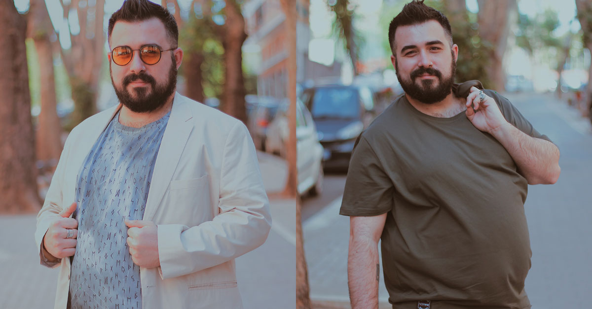 NORW8 creates unique handmade t-shirts that can make bigger guys feel at ease with what they wear